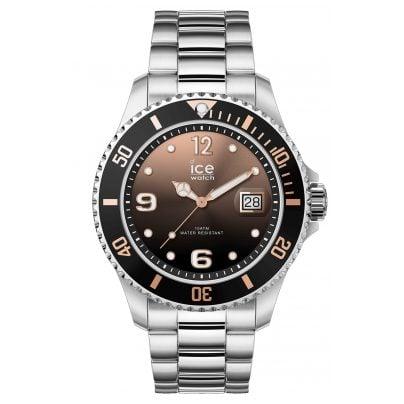 Ice-Watch 016768 Armbanduhr Ice Steel Black Sunset Silver M 4895164089949