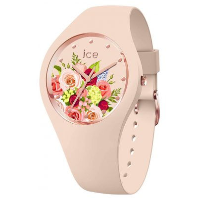Ice-Watch 017583 Damen-Armbanduhr ICE flower Blumenstrauß Rosa M 4895164094899
