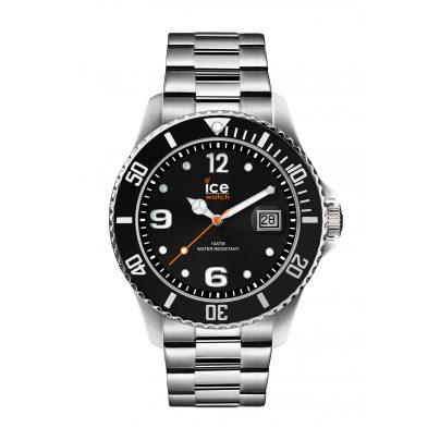 Ice-Watch 016031 Herren-Armbanduhr Ice Steel Black Silver M 4895164085903