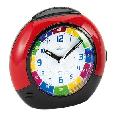 Atlanta 1678/1 Childrens Alarm Clock Red/Black 4026934167813
