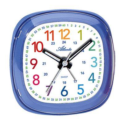 Atlanta 1736/5 Kids Alarm Clock Blue 4026934173654