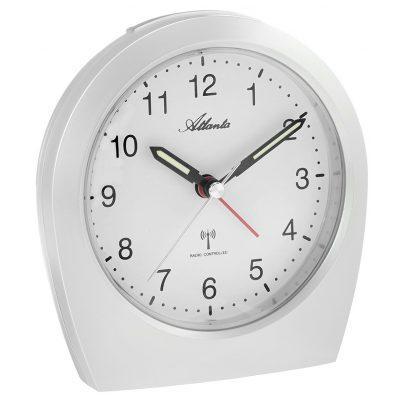 Atlanta 1824/0 Radio-Controlled Alarm Clock White 4026934182403