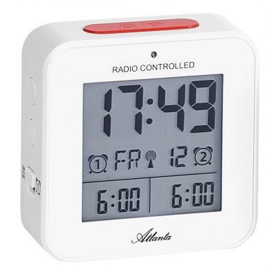 Atlanta 1880/0 Radio-Controlled Alarm Clock with 2 Alarms 4026934188009