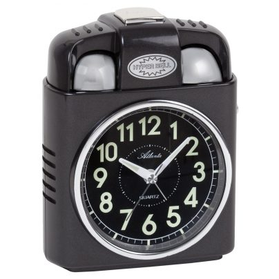 Atlanta 1947/4 Quarz-Wecker mit Extra Lautem Glockensignal 4026934194741