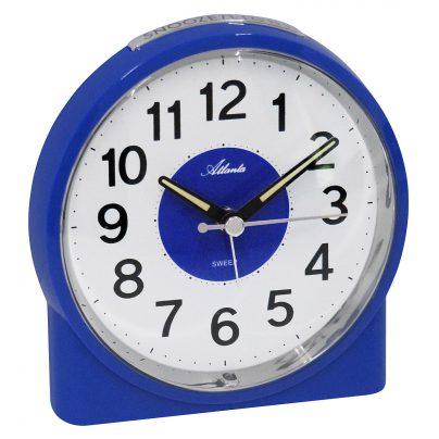 Atlanta 1986/5 Alarm Clock with Melody Blue 4026934198657
