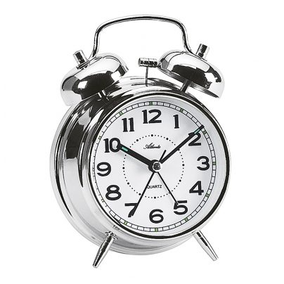 Atlanta 1646/19 Alarm Clock with Double Bell 4026934164614