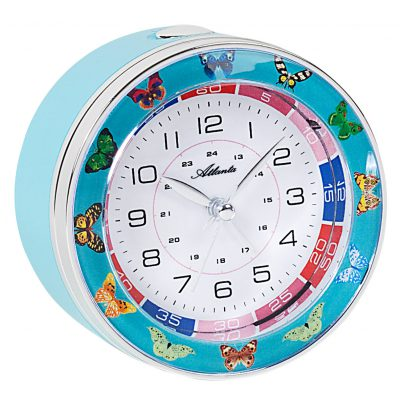 Atlanta 1982/5 Kids Alarm Clock with Sweep Movement Blue 4026934198251