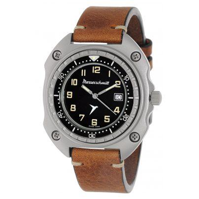 Messerschmitt ME-2040-VLB Herren-Armbanduhr Vintage Leder Braun 4260186268762