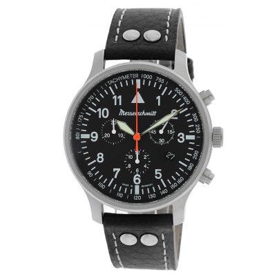 Messerschmitt ME-3H202 Herrenuhr Chronograph mit Lederband 4260186269110