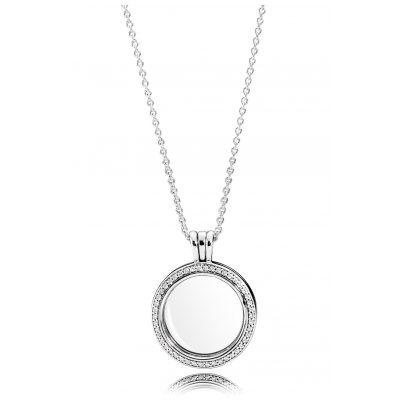 Pandora 396484CZ-60 Funkelndes Medaillon mit Halskette 5700302615708
