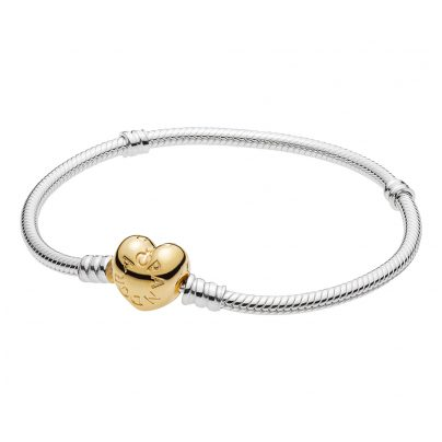Pandora 560719 Armband Moments Silber & Shine Herz