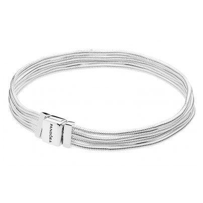 Pandora 597943 Reflexions Silber-Armband Schlangenketten