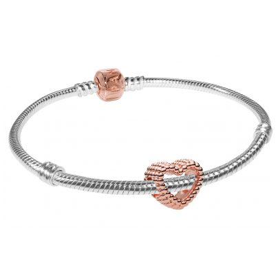 Pandora 75626 Armband-Set Beaded Heart Rose