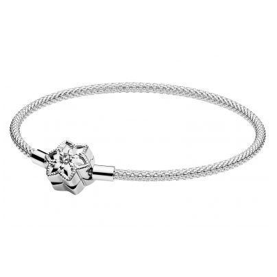Pandora 598616C01 Damen-Armband Moments Bright Snowflake