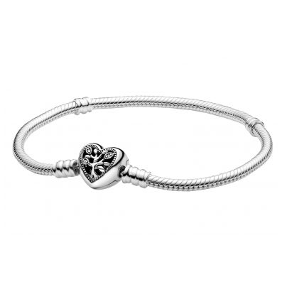 Pandora 598827C01 Damen-Armband Moments Familienstammbaum Herz-Verschluss