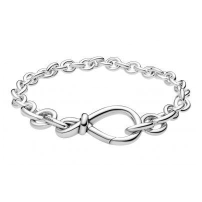 Pandora 598911C00 Silber Damen-Armband Unendlichkeits-Knoten