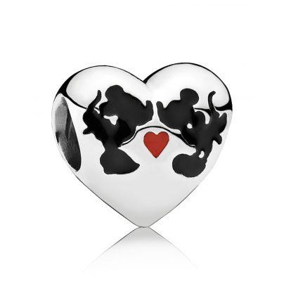Pandora 791443ENMX Heart Charm Minnie & Mickey Kiss 5700302292046