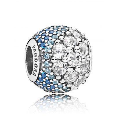 Pandora 797032NABMX Charm Blue Enchanted Pavé 5700302652130