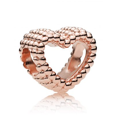 Pandora 787516 Rose Charm Beaded Heart 5700302693553