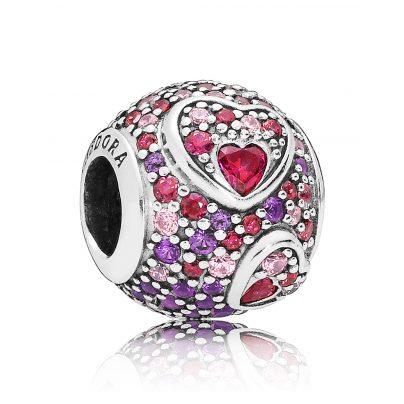 Pandora 797826CZRMX Charm Asymmetric Hearts of Love 5700302745733