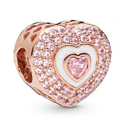 Pandora 788097NPR Rose Charm Hearts on Hearts 5700302777048