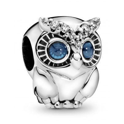 Pandora 798397NBCB Silver Charm Sparkling Owl 5700302817393
