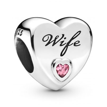 Pandora 798249PCZ Charm Wife Love Heart 5700302817034