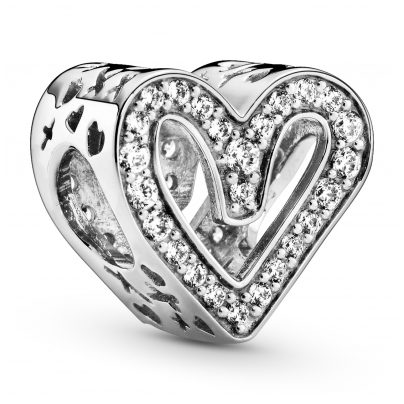 Pandora 798692C01 Silver Charm Sparkling Freehand Heart 5700302844719