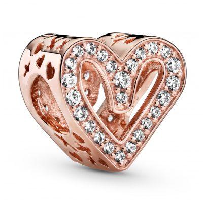 Pandora 788692C01 Rose Charm Sparkling Freehand Heart 5700302844498