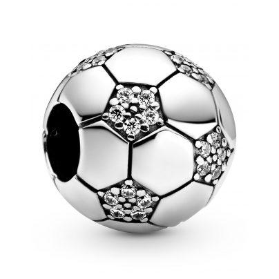 Pandora 798795C01 Silber Bead-Charm Funkelnder Fußball 5700302864410