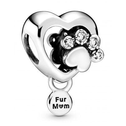 Pandora 798873C01 Silber Bead-Charm Herz mit Hundepfotenabdruck 5700302872019