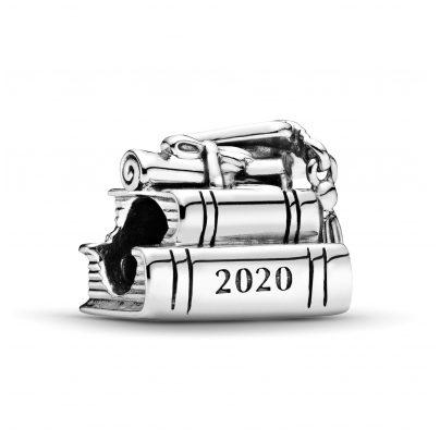 Pandora 798910C00 Silber Bead-Charm 2020 Graduation Bücher und Hut 5700302869613