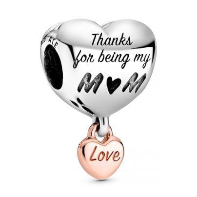 Pandora 788830C00 Rose Bead-Charm Herz Love You Mum 5700302864243