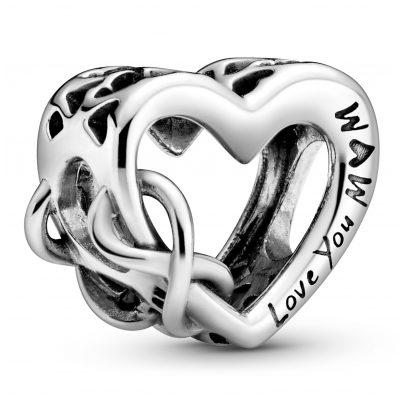 Pandora 798825C00 Silver Bead Charm Love You Mum Infinity Heart 5700302864571