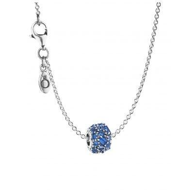 Pandora 08691 Halskette mit Charm Chiselled Elegance Sea Blue 4260497086918