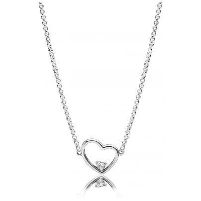 Pandora 397797CZ-45 Halskette Asymmetric Heart of Love 5700302745290