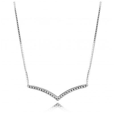 Pandora 397802CZ-45 Damen-Halskette Shimmering Wish 5700302745306