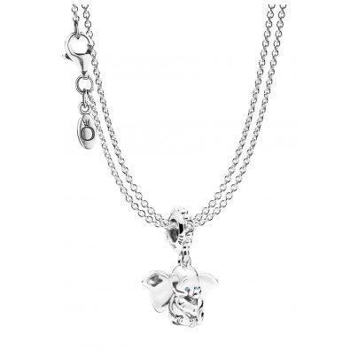 Pandora 75248 Anhänger Dumbo mit 2-reihiger Halskette Silber 925 4260641752485