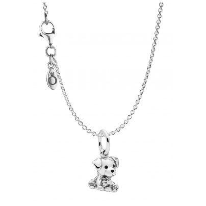 Pandora 75249 Halskette mit Anhänger Labrador Puppy Silber 925 4260641752492