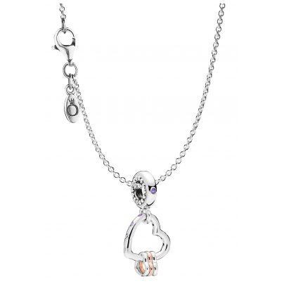 Pandora 75252 Halskette mit Charm Herzen Highlights 925 Silber 4260641752522