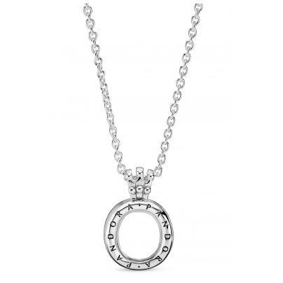 Pandora 398332-60 Halskette mit Medaillon Pandora Locket Crown O 5700302817461