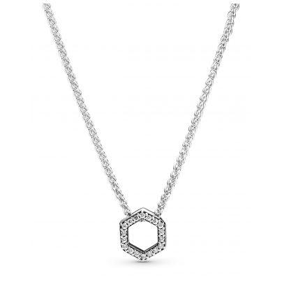 Pandora 398787C01-50 Damen-Halskette Funkelnde Honigwabe Silber 5700302863741