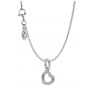 Pandora 39514 Damen-Kette Herz Silber 4260684395144