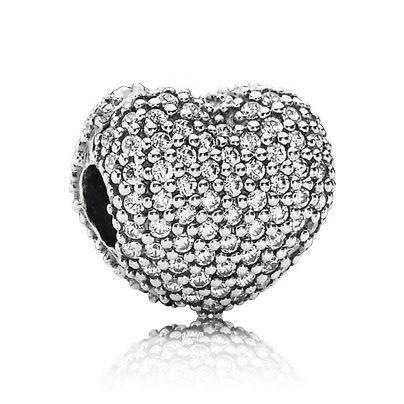 Pandora 791427CZ Clip Pavé-Heart 5700302279795