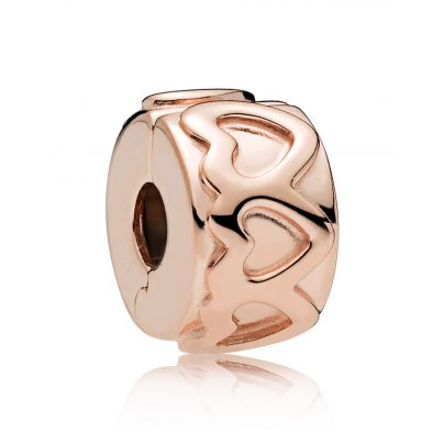 Pandora 781978 Clip-Element Row of Hearts Rosé 5700302692273