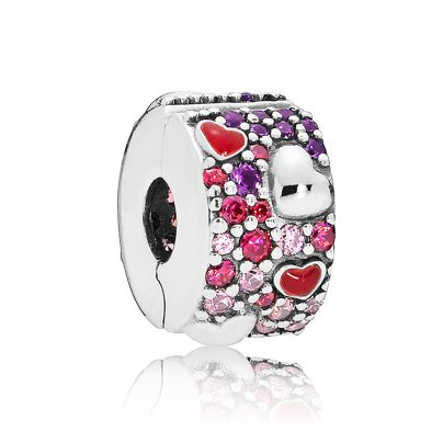 Pandora 797838CZRMX Clips-Charm Asymmetric Hearts of Love 5700302745801