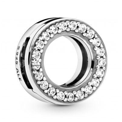 Pandora 798600C01 Reflexions Silver Clip Charm Circle of Pavé 5700302841800