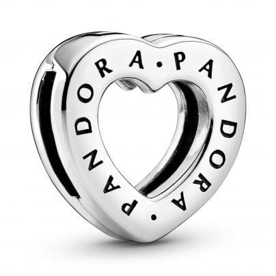 Pandora 798741C00 Reflexions Silber Clip Charm Logo Herz 5700302844757