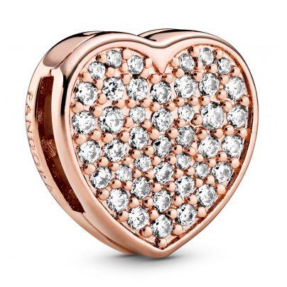 Pandora 788684C01 Reflexions Clip Charm Pavé Heart 5700302844771