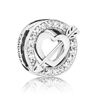Pandora 797793CZ Reflexions Clip Charm Herz und Pfeil Silber 5700302745627
